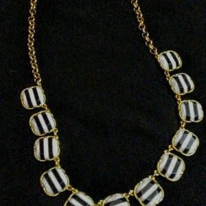 J-crew Black and White Statement Necklace